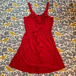 Express Red Ruffle Sleeveless Dress EUC Size M